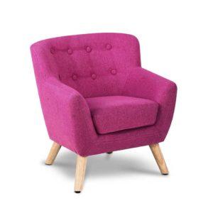 KID CHAIR A5 PK 00 300x300 - Artiss Kids Fabric Accent Armchair - Pink