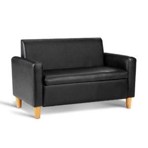 KID CHAIR S2 BK 00 300x300 - Artiss Kids PU Leather Double Armchair - Black