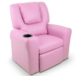 KID RECLINER PK 00 300x300 - Artiss Kids PU Leather Reclining Armchair - Pink