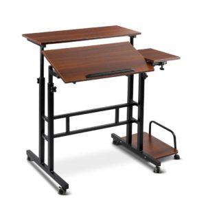 LA DESK SD DW 00 300x300 - Mobile Twin Laptop Desk - Dark Wood