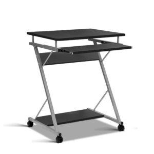 MET DESK 105 BK 00 300x300 - Artiss Metal Pull Out Table Desk - Black