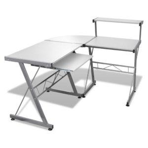 MET DESK 117 WH 00 300x300 - Artiss Corner Metal Pull Out Table Desk - White