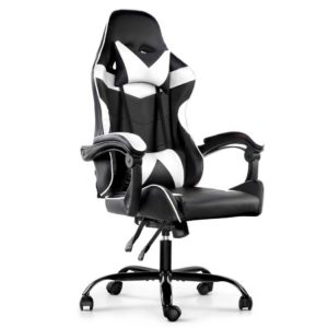 OCHAIR G R8820 BK WH 00 300x300 - Artiss Gaming Office Chairs Computer Seating Racing Recliner Racer Black White