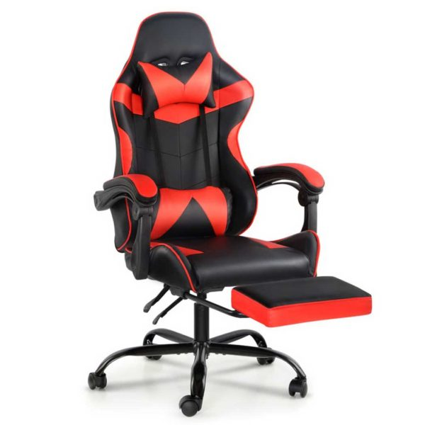 OCHAIR G R8820 FT BK RD 00 600x600 - Artiss Gaming Office Chairs Computer Seating Racing Recliner Footrest Black Red