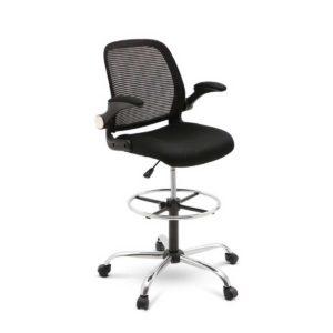 OCHAIR RING 56F BK 00 300x300 - Veer Drafting Stool Office Chair Mesh Adjust Black