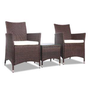 odf bistro rattan br 00 300x300 - Gardeon 3 Piece Wicker Outdoor Furniture Set - Brown