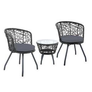 ODF BISTRO ROUND BK 00 300x300 - Gardeon Outdoor Patio Chair and Table - Black