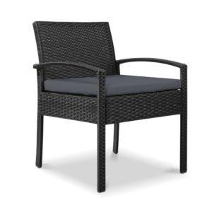 odf chair tea bk 00 300x300 - Gardeon Outdoor Furniture Bistro Wicker Chair Black