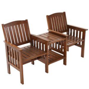 ODF LOVESEAT BR 00 300x300 - Gardeon Garden Bench Chair Table Loveseat Wooden Outdoor Furniture Patio Park Brown
