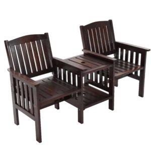 ODF LOVESEAT CC 00 300x300 - Gardeon Garden Bench Chair Table Loveseat Wooden Outdoor Furniture Patio Park Charcoal