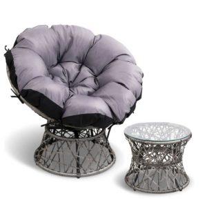 odf papasan chtb ge 00 300x300 - Gardeon Papasan Chair and Side Table - Grey