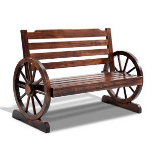 ODF WAGON CC 00 300x300 - Gardeon Wooden Wagon Wheel Bench - Brown