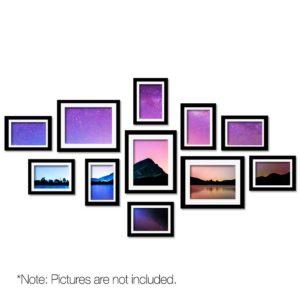 pfs 11f bk 00 300x300 - 11 PCS Photo Frame Wall Set Collage Picture Frames Home Decor Present Gift Black