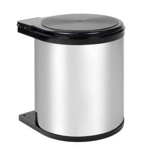 POT BIN CIR 005 00 300x300 - Kitchen Pull Out Stainless Steel Bin - Silver