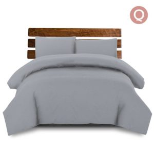 qcs mf gy q 00 300x300 - Giselle Bedding Queen Size Classic Quilt Cover Set - Grey