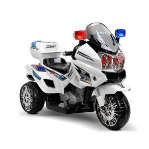 RCAR MBIKE POLICE WH 00 300x300 - Rigo Kids Ride On Motorbike Motorcycle Car White