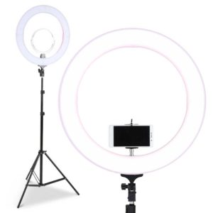 """rl fl 006 pk lv 00 300x300 - 19"""" LED Ring Light 6500K 5800LM Dimmable Diva With Stand Make Up Studio Video"""