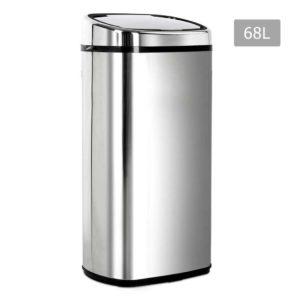 SB 68L S06 A 00 300x300 - 68L Stainless Steel Motion Sensor Rubbish Bin