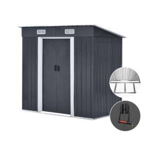 shed flat 4x6 base abc 00 300x300 - Giantz 1.94 x 1.21m metal Base Garden Shed - Grey