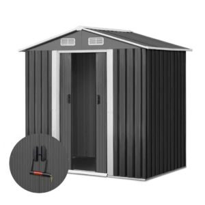 shed gab 4x6 abc 00 300x300 - Giantz 1.25 x 1.95m Steel Garden Shed - Grey