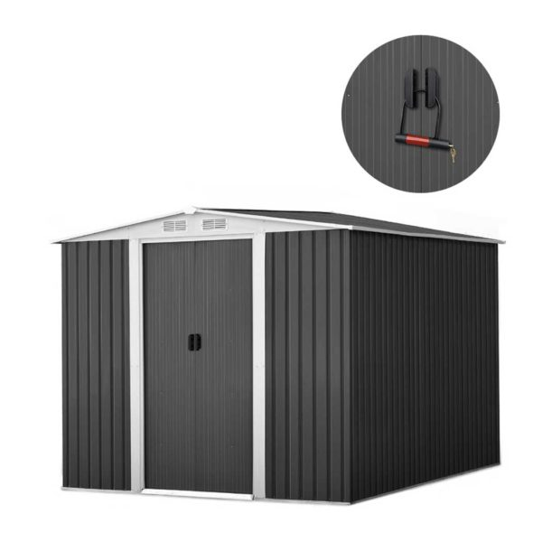 shed gab 6x8 6 abcd 00 600x600 - GIANTZ Garden Shed Workshop Shelter Metal with Roof 2.57x2x2M