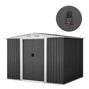 shed gab 6x8 abcd 00 300x300 - Giantz 2.05 x 2.57m Steel Garden Shed with Roof - Grey