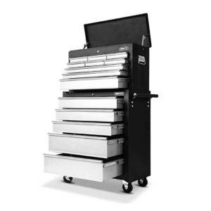 TB 14DR CH RO BKGY 00 300x300 - Giantz 14 Drawers Toolbox Chest Cabinet Mechanic Trolley Garage Tool Storage Box