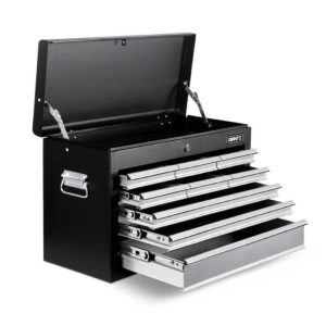 tb 9dr chest bkgy 00 1 300x300 - Giantz 9 Drawer Mechanic Tool Box Storage - Black & Grey