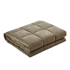 WBLANKET CT 7KG BR 00 300x300 - Giselle Bedding 7KG Cotton Gravity Weighted Blanket Deep Relax Sleep Adult Brown