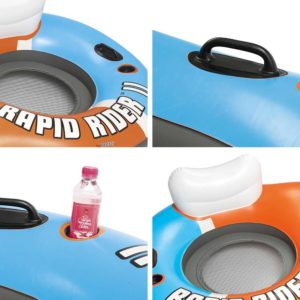 BW FLOAT 43113 TO 02 300x300 - Bestway River Run 2 Inflatable Tube River Lake Pool Lounge Float Cooler Twin