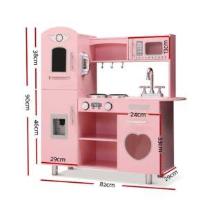 PLAY WOOD DISPENSER PK 01 300x300 - Keezi Kids Kitchen Set Pretend Play Food Sets Childrens Utensils Wooden Toy Pink