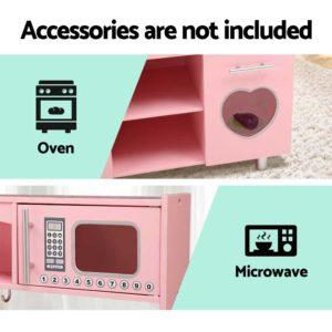PLAY WOOD DISPENSER PK 04 300x300 - Keezi Kids Kitchen Set Pretend Play Food Sets Childrens Utensils Wooden Toy Pink