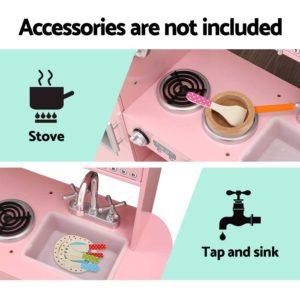 PLAY WOOD DISPENSER PK 05 300x300 - Keezi Kids Kitchen Set Pretend Play Food Sets Childrens Utensils Wooden Toy Pink