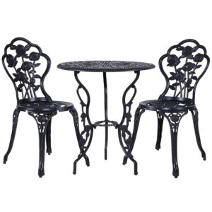 GB CALU 3PC XG1015 BK 00 300x300 - Gardeon 3PC Outdoor Setting Cast Aluminium Bistro Table Chair Patio Black