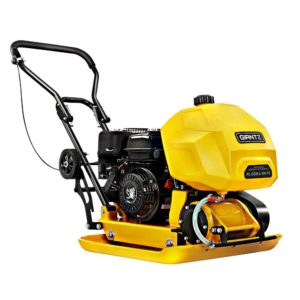 """95KG Wacker 6.5HP Compactor 23"""" Plate Vibration Rammer with Wheels"""