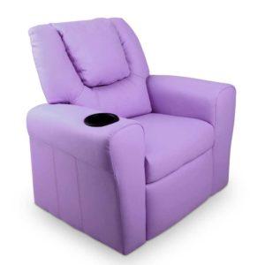 KID RECLINER PUR 00 300x300 - Artiss Kids PU Leather Reclining Armchair - Purple