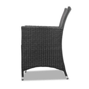 odf bistro rattan bk 04 300x300 - Gardeon 3 Piece Wicker Outdoor Furniture Set - Black