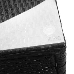 odf bistro rattan bk 06 300x300 - Gardeon 3 Piece Wicker Outdoor Furniture Set - Black