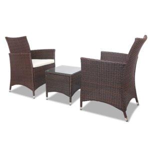 odf bistro rattan br 03 300x300 - Gardeon 3 Piece Wicker Outdoor Furniture Set - Brown