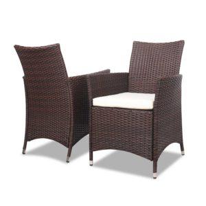 odf bistro rattan br 04 300x300 - Gardeon 3 Piece Wicker Outdoor Furniture Set - Brown
