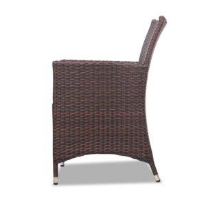 odf bistro rattan br 05 300x300 - Gardeon 3 Piece Wicker Outdoor Furniture Set - Brown