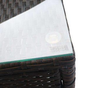 odf bistro rattan br 06 300x300 - Gardeon 3 Piece Wicker Outdoor Furniture Set - Brown