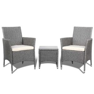 odf bistro rattan ge 02 1 300x300 - 3 Piece Wicker Outdoor Chair Side Table Furniture Set - Grey