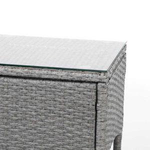 odf bistro rattan ge 06 1 300x300 - 3 Piece Wicker Outdoor Chair Side Table Furniture Set - Grey