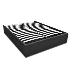 BFRAME E TOKI Q CHAR AB 04 300x300 - Artiss TOKI Queen Size Storage Gas Lift Bed Frame without Headboard Fabric Charcoal