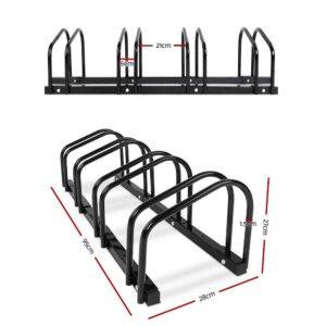 bike 4 bk 01 1 300x300 - Portable Bike 4 Parking Rack Bicycle Instant Storage Stand - Black