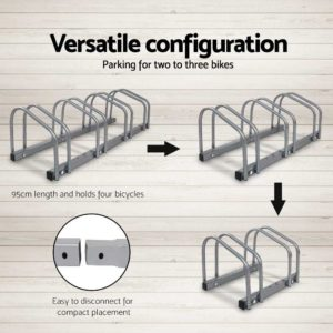 bike 4 si 04 1 300x300 - Portable Bike 4 Parking Rack Bicycle Instant Storage Stand - Silver