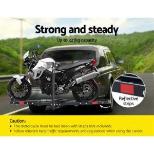 "CAR MC CARRIER 6039 AB 03 300x300 - Giantz Motorcycle Motorbike Carrier Rack 2"" Towbar Arm Rack Dirt Bike Ramp Steel"