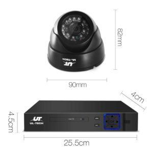CCTV 4C 2D BK 2T 01 300x300 - UL-Tech CCTV Security System 2TB 4CH DVR 1080P 2 Camera Sets