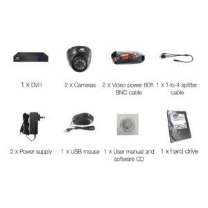 CCTV 4C 2D BK 2T 03 300x300 - UL-Tech CCTV Security System 2TB 4CH DVR 1080P 2 Camera Sets